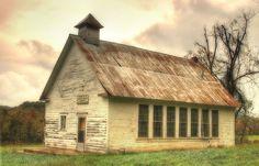 Old Beaver Valley church in Douglas County Missouri