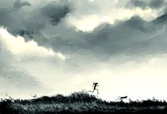 The run. Another Saturday morning raw sketch..clearing my head from the week! #pascalcampion