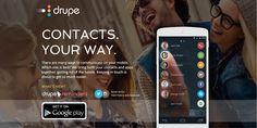 اجمع تطبيقات التواصل وأصدقائك في شاشة واحدة مع تطبيق Drupe - زووم على التقنية