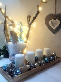 Angelika Angie - Dobré rady a nápady Christmas Advent Wreath, Christmas Diy, Advent Wreaths, Christmas Decorations, Table Decorations, Candle Sconces, Gingerbread, Candle Holders, Wall Lights