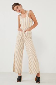 Rolla's Sailor Striped Wide-Leg Jumpsuit   Urban Outfitters