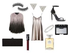 """""""night"""" by cosmiceyes on Polyvore featuring moda, Boohoo, Yves Saint Laurent, Lizzie Mandler, Messika, NARS Cosmetics, Chanel y Battington"""