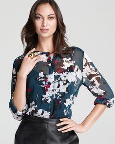DKNY Maggie Floral Printed Blouse | Bloomingdale's
