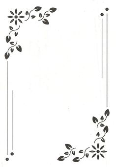 Simple Page Borders Designs Clipart Best Embroidery Stencils
