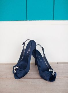 Wedding Shoes: Navy #bridal #shoes | Photo by: Katie Nesbitt on Every Last Detail via Lover.ly