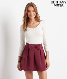 Solid Bow Skirt - Aeropostale