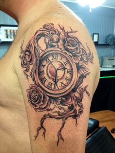 grandfather clock face tattoo. clock tattoo grandfather face t