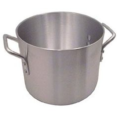 """Heavy Aluminum Stock Pot, 40 Quart (12-0156) Category: Stock Pots by Challenger Products. $59.99. Sold Individually. Item #: 12-0156. Heavy-duty 3004 aluminum. Double thick tops and bottoms. NSF Listed. 14-1/2"""" Diameter. Lid sold separately."""