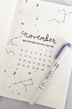 Creative November Monthly Cover Ideas For 2020 - Crazy Laura If you& chaning up the look of your bullet journal this Fall then you need to check out these super creative november monthly cover ideas for inspiration! December Bullet Journal, Bullet Journal Cover Page, Bullet Journal Aesthetic, Bullet Journal Notebook, Bullet Journal School, Bullet Journal Ideas Pages, Bullet Journal Spread, Bullet Journal Inspo, Bullet Journal Layout