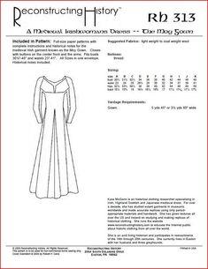 Schnittmuster RH 101 Paper Pattern Bodice and Petticote