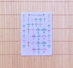 These cross stickers are a great way to schedule church in your planner. Stickers by MioCartaPesta