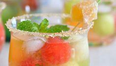 Meloenmix in een glas