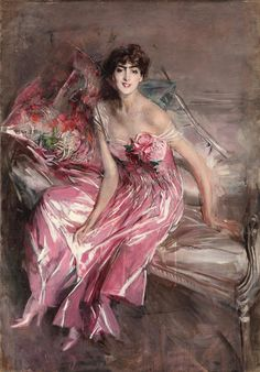 Giovanni Boldini (1842-1931), La signora in rosa - 1916