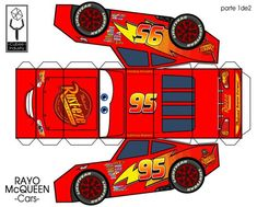 42 Ideas for party kids cars lightning mcqueen Disney Cars Party, Disney Cars Birthday, Cars Birthday Parties, Paper Car, Paper Toys, Auto Party, Car Party, Lightening Mcqueen, Car Themes