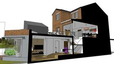 Basement extension to existing house - 3D Warehouse