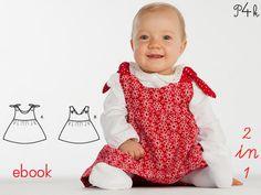 Schnittmuster Baby Kleid Modell Lipsia in 2 Varianten als ebook mit Nähanleitung von pattern4kids auf Etsy