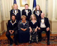 Eagles, Al Pacino, Mavis Staples, Martha Argerich, James Taylor. Dec 3, 2016 Kennedy Center Honors artist dinner