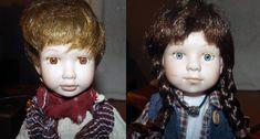 PAIR of vintage Vanessa Ricardi porcelain dolls. by BuyfromGroovy