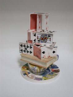 "Richard Shaw,""Artist's House of Cards"",  2003, ceramic. A  masterful use of tromp l'oeil."