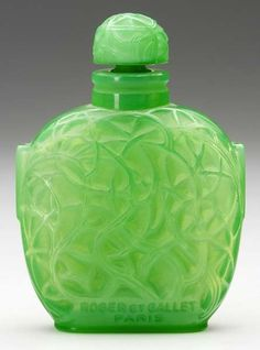 "Rene Lalique ~ ""Le Jade"" antique perfume bottle for Roger et Gallet"