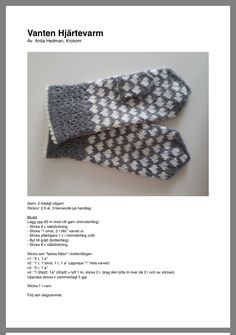 Knitted Mittens Pattern, Knit Mittens, Knitted Gloves, Knitting Patterns, Sewing Patterns, Wrist Warmers, Hand Warmers, Textiles, Knitting Yarn