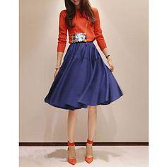 Women's Vintage Plisse A-lijn rok