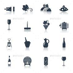Wine Icons Set