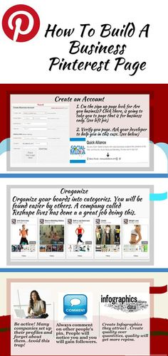 How to build a business pinterest page. REPIN if you like! #socialmedia #pinterest