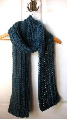 Scarf Crochet Here is a free pattern for you crocheters out there. It's for a 2 meter long ribbed scarf. It's a very simple design, but looks elegant a. Crochet Scarves, Crochet Shawl, Crochet Clothes, Crochet Stitches, Crochet Patterns, Scarf Patterns, Chunky Crochet Scarf, Ribbed Crochet, Crocheted Scarf