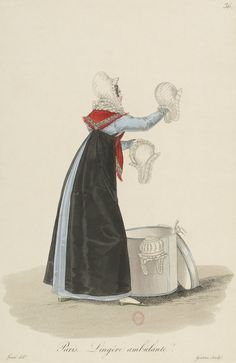 1824 - Costumes d'Ouvrières Parisiennes Another black apron