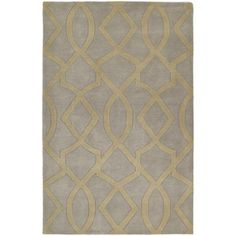 Kaleen�Astronomy 7-ft 6-in x 9-ft Rectangular Gray Geometric Area Rug