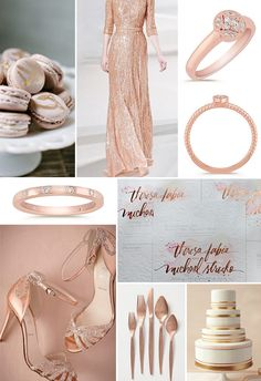 Rose gold fall wedding inspiration with pretty rings from @shanecompany