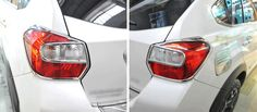 Rear Tail Light Lamp Cover Trim ABS For Subaru XV 2012 2013 2014 2015