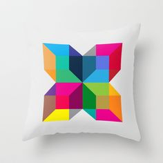 The Intersection Throw Pillow by Three of the Possessed - $20.00