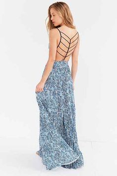Silence + Noise Water Works Strappy-Back Dress - Urban Outfitters