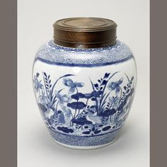 A blue and white ginger jar Kangxi