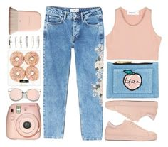 """""""Denim is always a good idea"""" by perfectharry ❤ liked on Polyvore featuring StyleNanda, MANGO, Fujifilm, Axel Arigato and Aéropostale"""