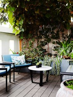 One of our favourite projects -Owen Harris — Rooftop Garden I Breeze loungers and Breeze sofa with Marble top Nano coffee table I story by The Design Files Outdoor Areas, Outdoor Rooms, Outdoor Living, Outdoor Decor, Garden Furniture, Outdoor Furniture Sets, Landscape Design, Garden Design, Interior Design Photography