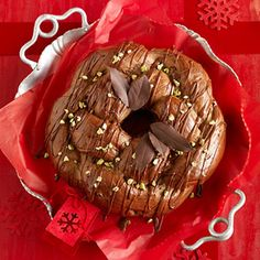 For a holiday breakfast or open house, make this ooey-gooey chocolate bread. The frosting adds even more chocolate richness.