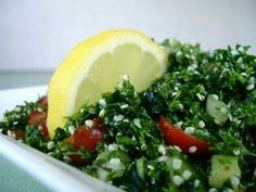 Fresh herb and kale tabbouleh