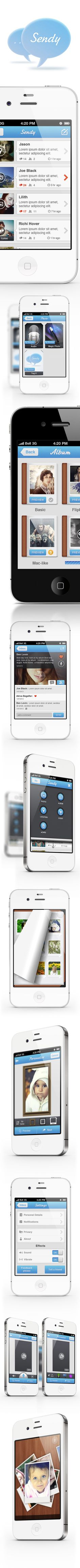 Sendy by Northwood , via Behance   ***   Application to replace you all! mail, twitter, youtube, etc.