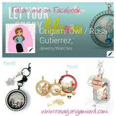 Follow me on Facebook on my business page for lots of fun tips!  Just click on the pic!  #OrigamiOwl #CharmingQbn