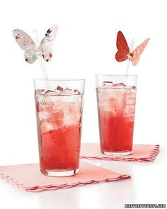 Download the templates for these butterfly drink decorations