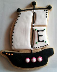 pirate boat cookies