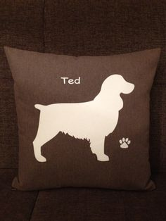 Personalised Springer Spaniel Dog Cushion