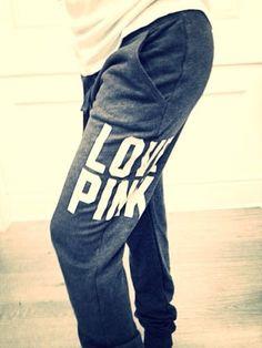 New VICTORIAS SECRET LOVE PINK Collegiate SWEAT PANTS XS Lounge Yoga Gray Skinny