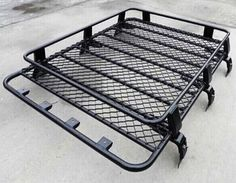 Transit Van Steel ROOF RACK TRAY TOP Black 4X4 CARGO LUGGAGE BASKET carrier RR/V | eBay