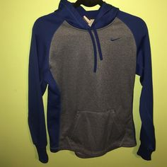 Blue Nike Therma - Fit Hoodie Blue Nike Therma - Fit Hoodie. Perfect condition. Absolutely nothing wrong with it. 100% Polyester! Nike Tops Sweatshirts & Hoodies