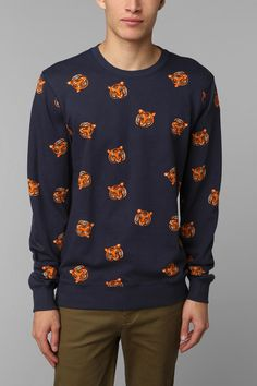 Urban Outfitters - Character Hero Tiger Heads Pullover Sweatshirt