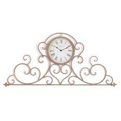 Bella Gold Scroll Clock | Kirkland's